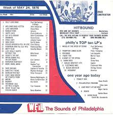 Chart Hits 1976 Wfil Philadelphia May 24 1976 Chart Another Rock Radio Le