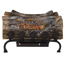 pleasant hearth 20 5 in ling electric fireplace logs with grate and heater