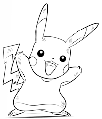 Pikachu Pokemon Kleurplaat Gratis Kleurplaten Printen