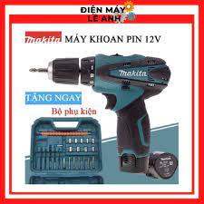 Máy bắn bắt siết ốc vít bulong khoan súng cầm tay mini Makita pin 12V 3  chức năng giá rẻ, Tặng kèm phụ kiện - Máy khoan, máy vặn vít & phụ