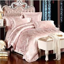 satin sheet set queen 4 jacquard silk bedding set queen king size pink beige white satin bed set duvet cover bedclothes bed sheets pillowcases in bedding