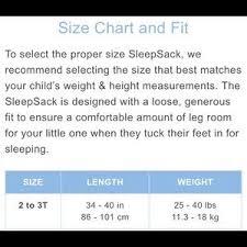 Halo Fleece Sleepsack Size Chart Halo Big Kids Sleep Sack W Foot Openings Sz 2 3t Nwt
