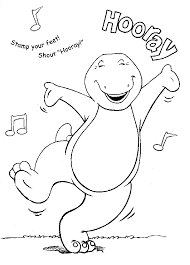 Small Picture Barney Coloring Pages