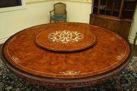 table amazing 72 round dining with lazy susan 7 luxurious inch burl walnut and pearl inlaid