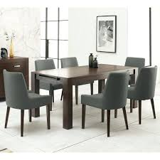 extending dining table and 6 chairs designs walnut extending dining table 6 taupe fabric chairs hudson