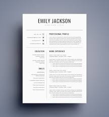 Resume Template Cv For Ms Word Best Selling Etsy Il Full