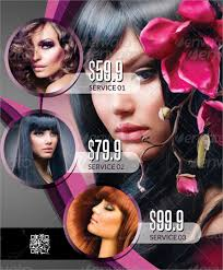 hair stylist flyer templates sle beauty salon flyer template 20 in psd