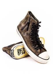 John Varvatos X Converse Chuck Taylor Multi Eyelet Lace Zip Hi Brown Sneaker