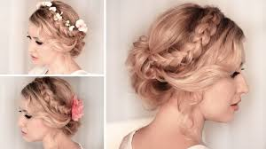 Braided Updo Hairstyles For Short Hair Braided Updo Hairstyle For