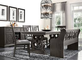 Belmore <b>6</b>-<b>pc</b>. <b>Dining Set</b> w/Bench - Gray / Espresso | Raymour ...