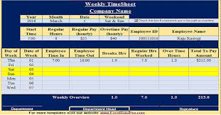 Excel Timesheet Download Download Weekly Timesheet Excel Template Exceldatapro