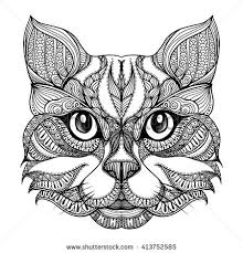Small Picture 631 best Adult ColouringCatsDogs Zentangles images on