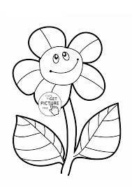 Small Picture Funny Sunflower coloring page for kids flower coloring pages