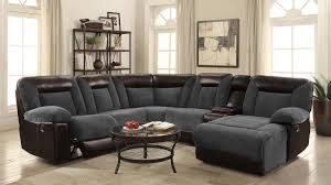 reclining sectional grey. Interesting Reclining Grey Leather Reclining Sectional  StealASofa Furniture Outlet Los  Angeles CA On A