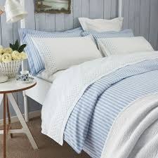 blue white striped duvet covers by sanderson bedding hover to zoom