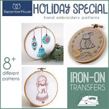 Embroidery Patterns Holiday Special Iron On transfers for hand | Etsy