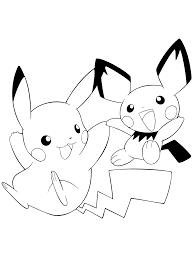 Pokemon Paradijs Kleurplaat Pikachu En Pichu