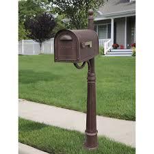 Unique mailbox post Proof Classic Copper Curbside Mailbox With Ashland Mailbox Post Unit Picabet Decorative Mailboxes Unique Residential Mailboxes Bellacor