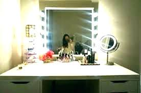 lighted vanity mirror table top best lighted makeup mirror geek house tabletops with led bulb