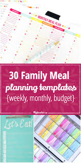 monthly meal planner template 30 family meal planning templates weekly monthly budget tip junkie