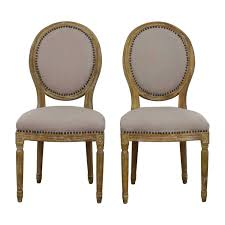 baxton studio baxton studio clairette traditional french round chair chairs