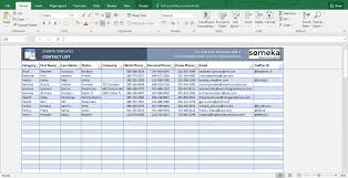 Free Contact List Template Beauteous Contact List Excel Template Unique Free Excel Table Templates