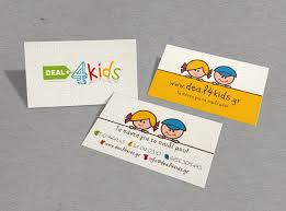 Deal4kids Business Cards For Affiliated Companies And Clients