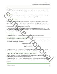 Professional Cleaning Services Proposal