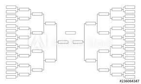 Tournament Bracket Empty Template For Competition Charts Buy