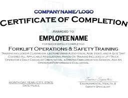 Free Forklift Certificate Template Safe Driver Certificate Template Forklift New Collections