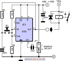 vdc latching relay one pulse on off wanted electronics on off button circuit diagram gif