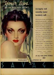 absolutely no lipstick or eyeshadow those are 20s let woman film noir looks there s no way to explain around them need i mention fake eyelashes