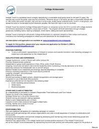 Stunning Brand Ambassador Resume Duties For Phlebotomy Resume