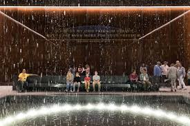 In This Quiet Space For Contemplation A Fountain Rains Down Calming