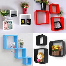 Floating Cube Shelves Uk tinxs Fashion Retro Square Rounded Floating Cube Wall Storage 19