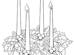 Advent Wreath Template With Advent Wreath Coloring Page Free