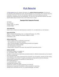 Resume Cover Letter Template Mla Resume Template Best Cover Letter