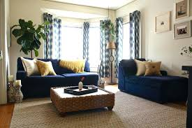 rug next to blue couch alongside magnificent jute transitional with glamorous sofa decor dark living room blue couch