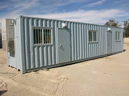 office in container. 40\u2032 Ground Level Office In Container