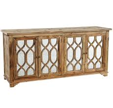 wood and mirrored furniture. french lattice reclaimed wood 4 door mirrored sideboard and furniture b