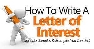 how to write a letter of interest small