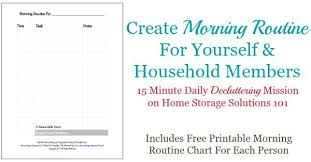 Daily Routine Printable Free Printable Morning Routine Chart Plus How To Use It