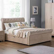 modern bed frame with storage. Modren Frame Sleigh Storage Bed Happy Beds Ravello Mink Grey Fabric Modern 2 Drawer  Bed  Throughout Frame With O