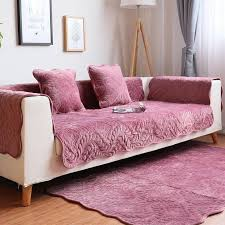 solid color plush couch cover seat