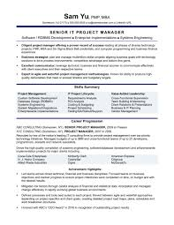 Monster Sample Resumes Experienced It Project Manager Resume Sample Monster It Manager 24