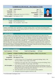 Civil Engineering Resume Examples Engineering Resume Samples For Freshers Unique Format Of Civil 5