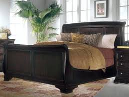 medium size of trishley king sleigh bedroom set cherry bed valravn photo of with black leather