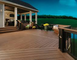 Decking That Lets Light Through The Different Directions Of The Decking Boards Makes An