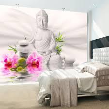 Wallpaper Buddha And Orchids Fruugo