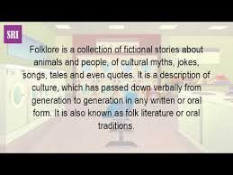 what is a folklore in literature  what is a folklore in literature